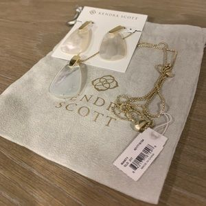 Kendra Scott Marty Necklace and Earring Set